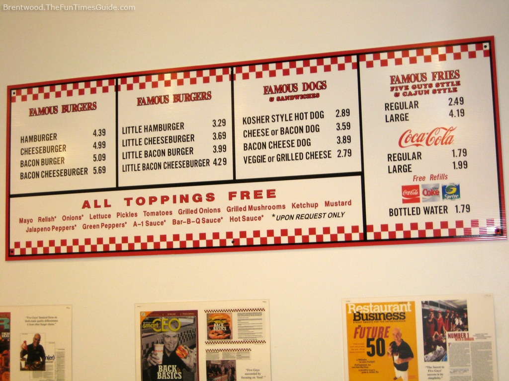 Five Guys Prices 48