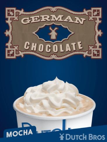 german chocolate coffee drink Snickerdoodle Coffee Dutch Bros  Secret Menu Amp Prices  Hidden Drinks  Updated