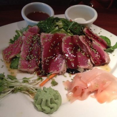 The Ahi Tuna Salad Can Be Found In Salads Section Of Elephant Bar Menu Along With Citrus Side Garden Organic Field