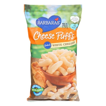 White cheddar cheese puffs
