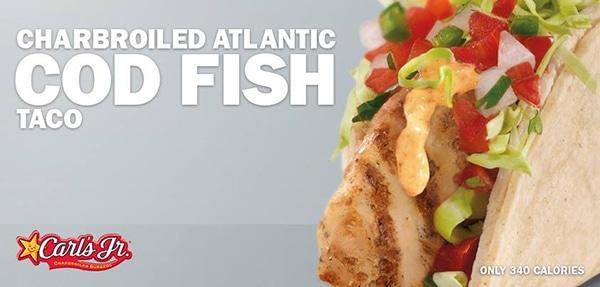 Charbroiled atlantic cod fish taco from green burrito for Atlantic fish menu