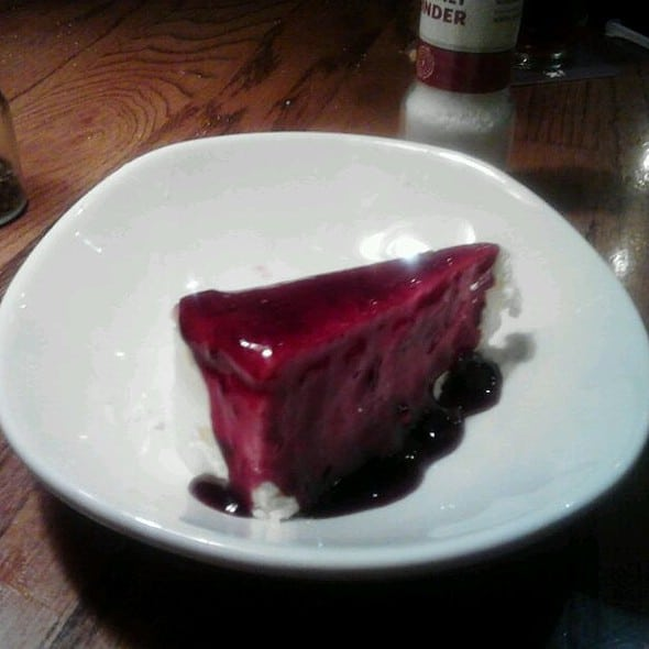 Classic Cheesecake With Raspberry Sauce From Outback