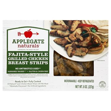 Fajita Style Grilled Chicken Breast Strips From Applegate Farms