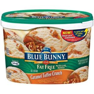 Fat free no sugar added ice cream