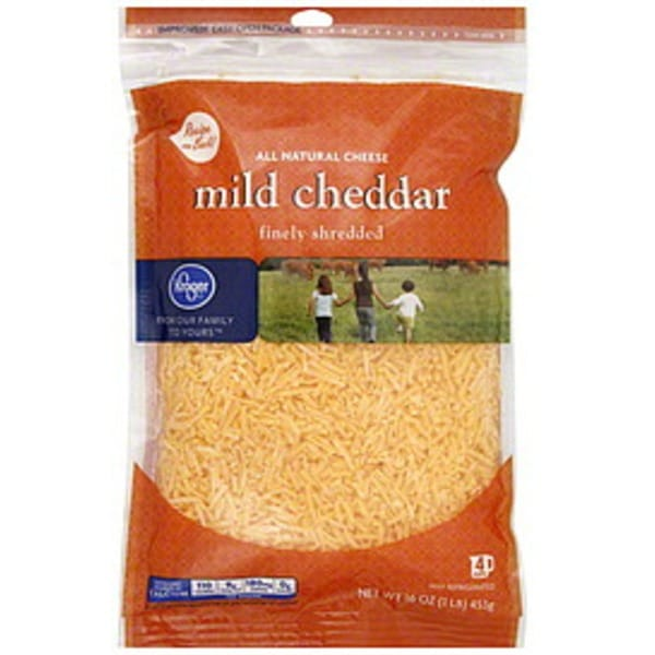 Finely Shredded Sharp Cheddar Cheese From Kroger