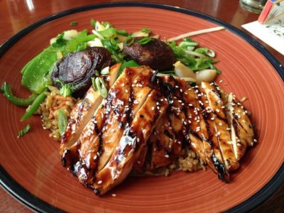 Grilled Teriyaki En Brown Rice Bowl