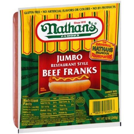 Calories In Nathan S Jumbo Hot Dog
