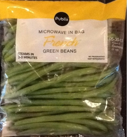 Microwave in Bag French Green Beans from Publix | Nurtrition & Price