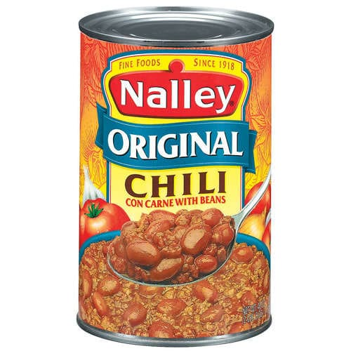 original chili con carne with beans from nalley nurtrition price. Black Bedroom Furniture Sets. Home Design Ideas