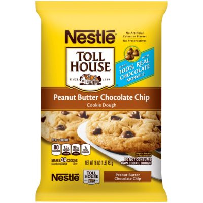 Nestle Toll House Peanut Butter Chocolate Chip Cookie Calories