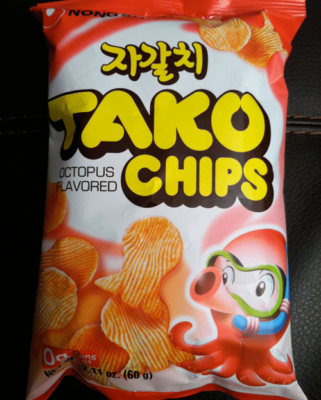 cd2558db2036 The Tako Chips can be found in the Snacks section of the Nong Shim menu