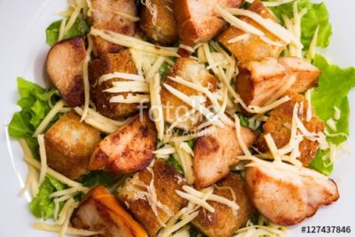 how to make croutons for caesar salad