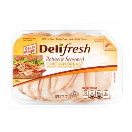 Veggie Burgers Meatless Chicken Paleo Bread in addition Deli Fresh Rotisserie Style Shaved Chicken Breast further Oscar Mayer White Oven Roasted Turkey 16 oz besides Kroger Deli Ham Nutrition Facts together with 10292656. on oscar mayer deli cuts