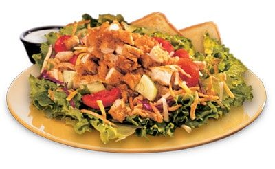 House Zalad With Grilled Chicken From Zaxby S Nurtrition Price
