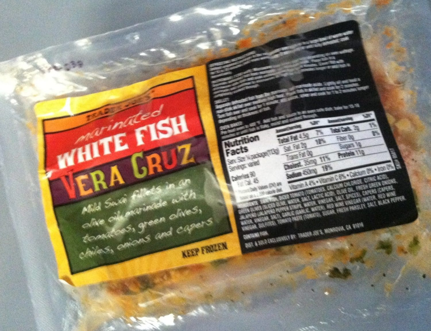 Marinated White Fish Vera Cruz From Trader Joe 39 S