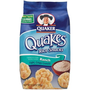 Quaker Ranch Rice Cakes Nutrition
