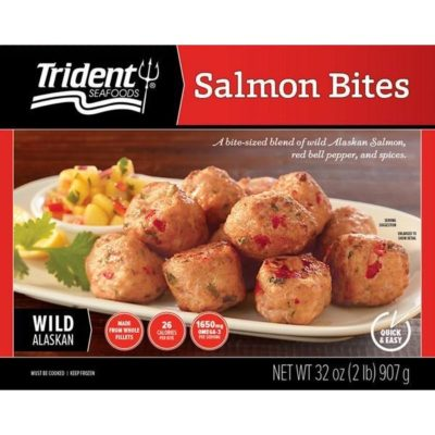 Salmon Bites from Trident Seafoods   Nurtrition & Price